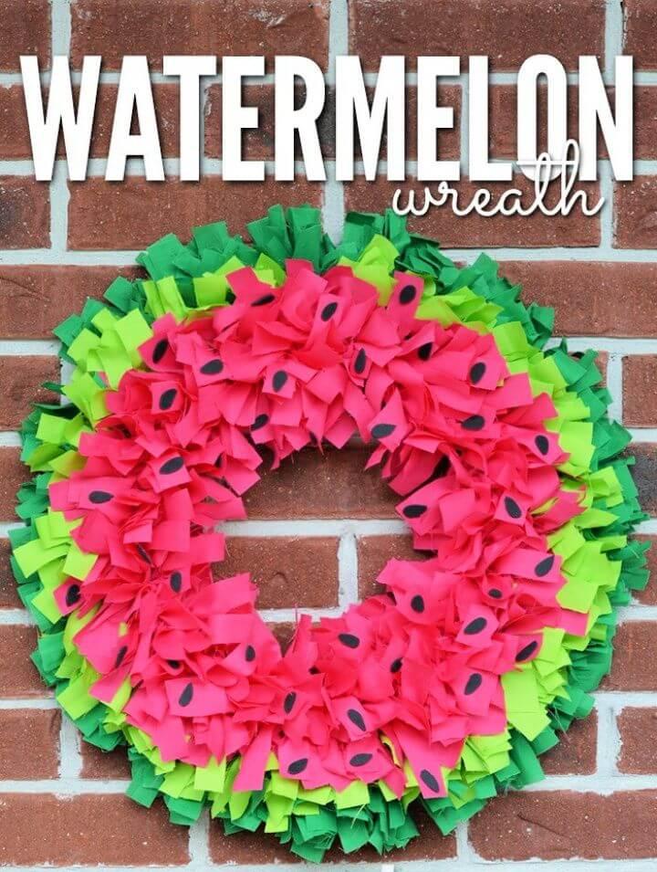 Watermelon Wreath Tutorial