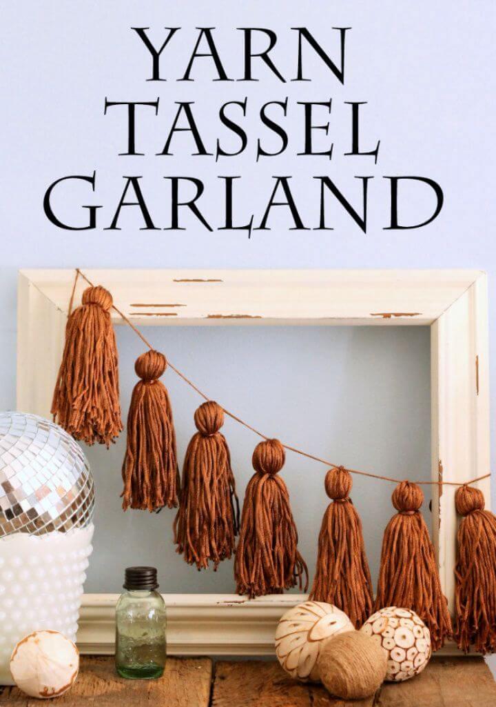 Yarn DIY Tassel Garland
