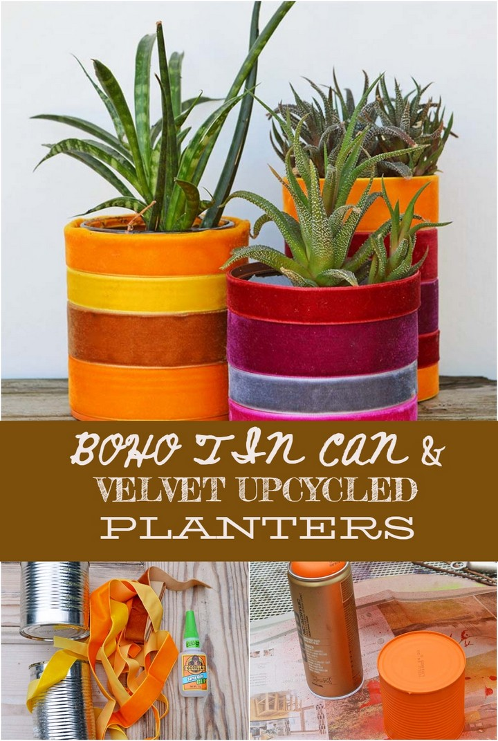 DIY Backyard Tin Can Fence Garden