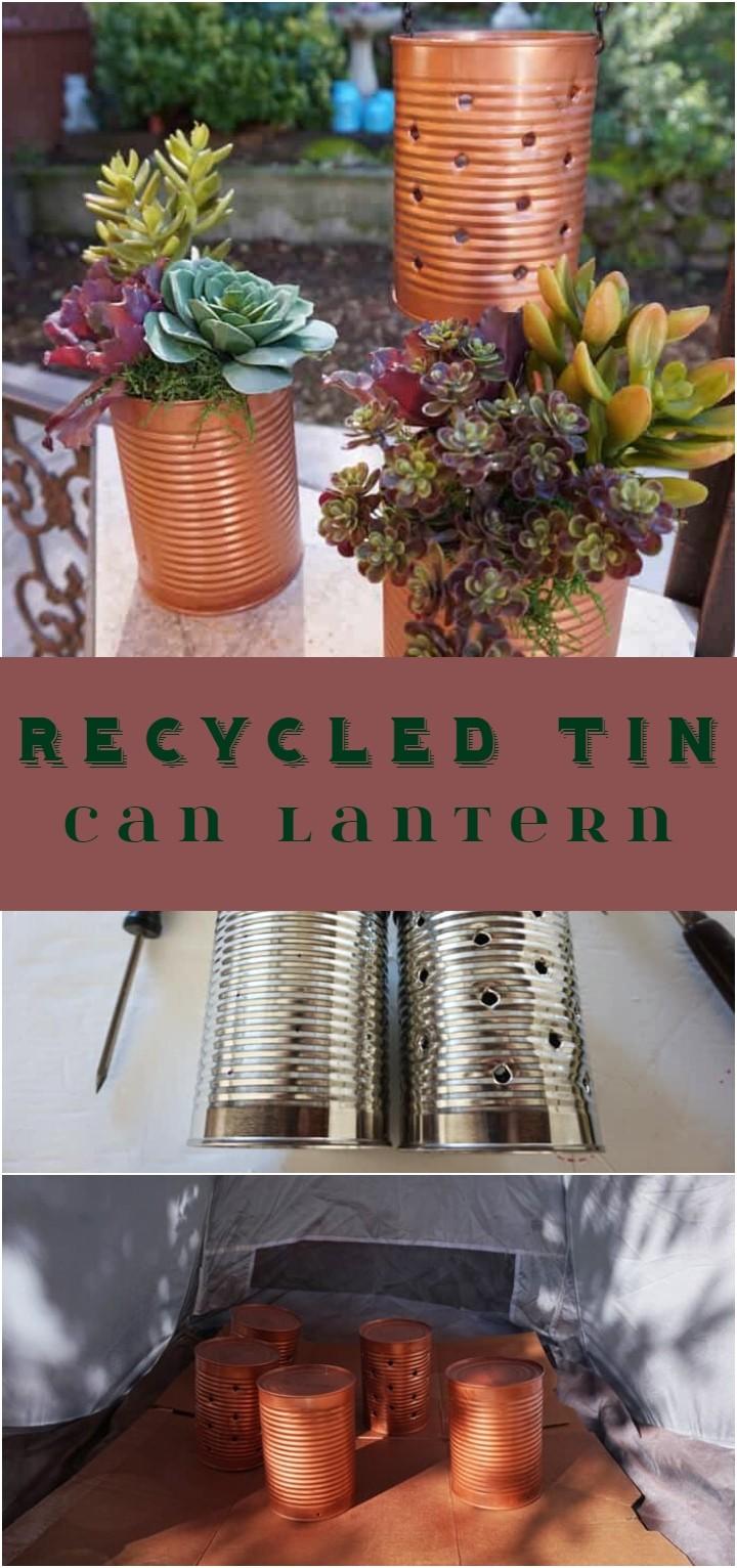 Recycled Tin Can Lantern