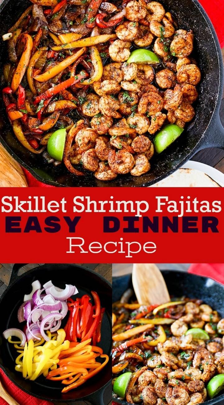 Skillet Shrimp Fajitas Easy Dinner Recipe 1