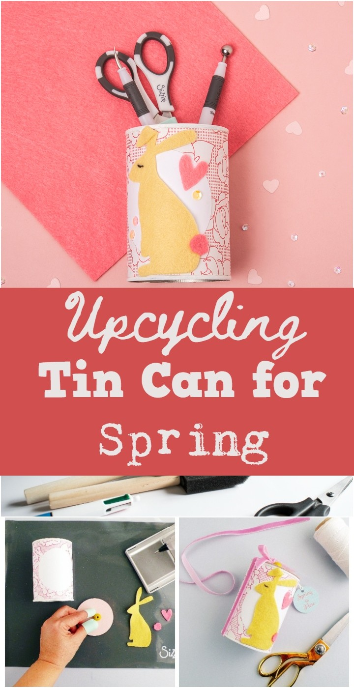Upcycling Tin Can for Spring