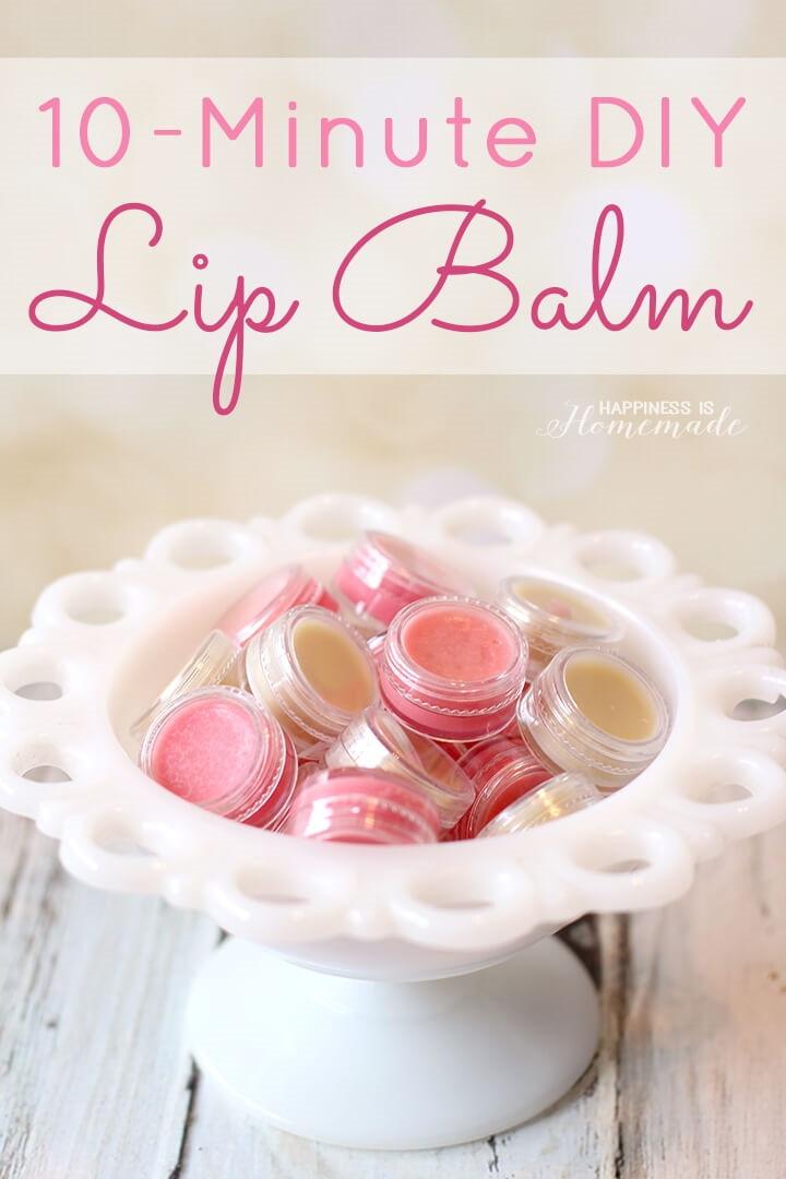 10 Minute DIY Lip Balm