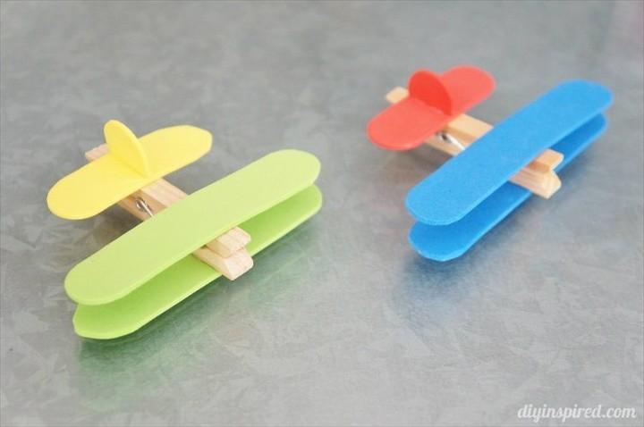Airplane Clothespin Kids Craft