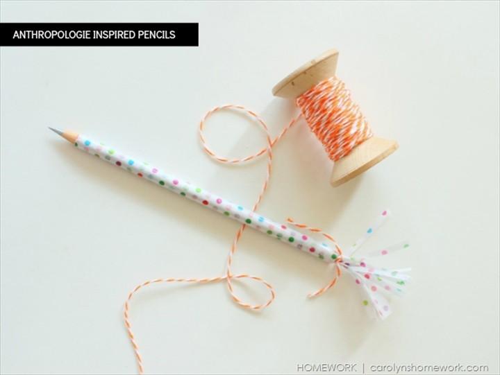 Anthropologie Inspired Pencils