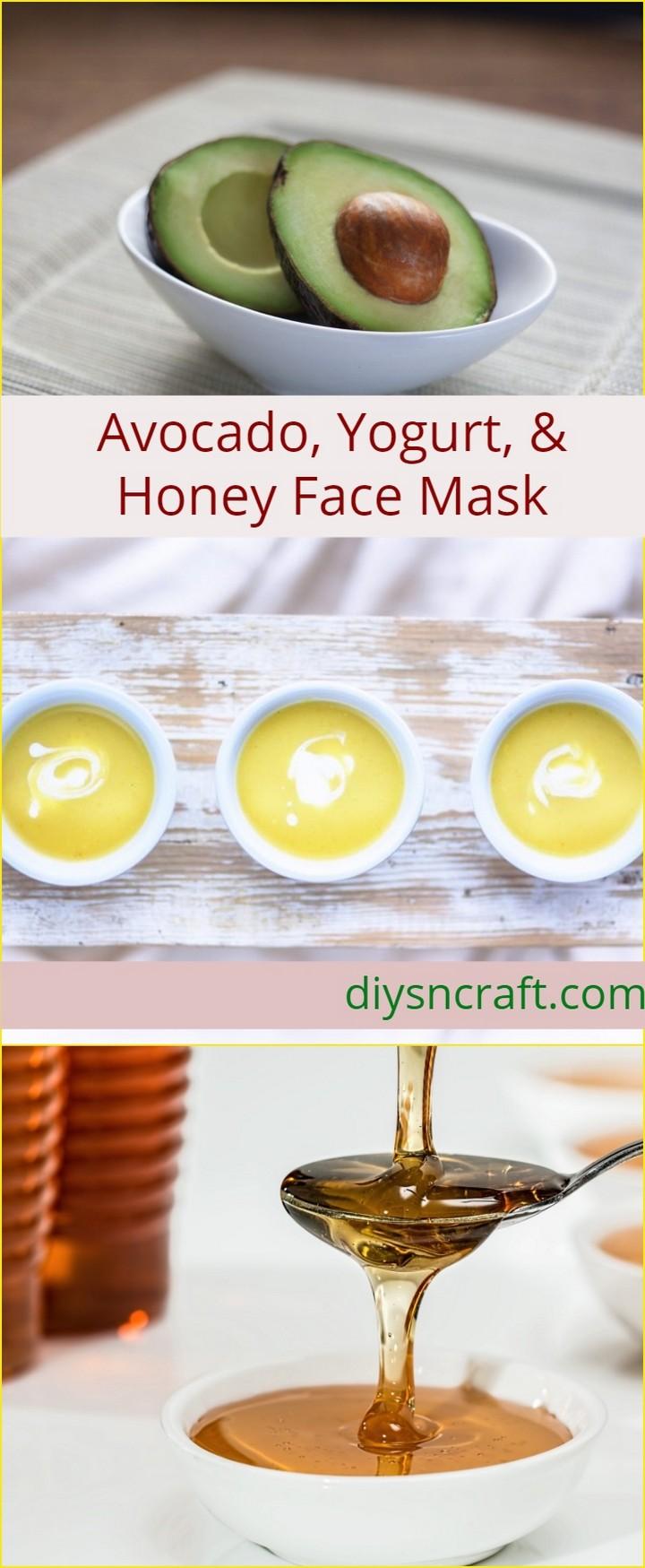 Avocado Yogurt Honey Face Mask 1