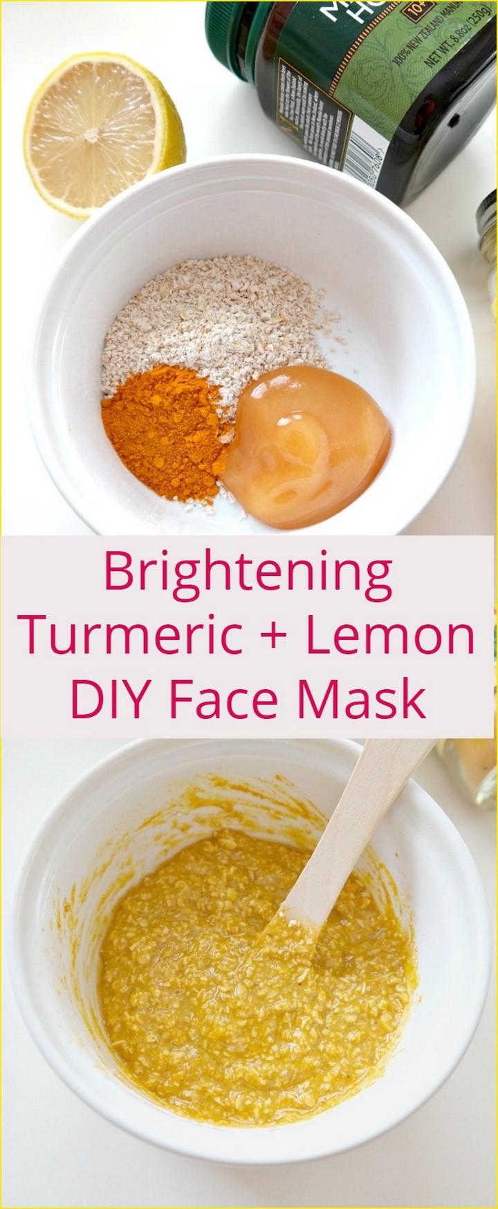 Brightening Turmeric Lemon DIY Face Mask 1
