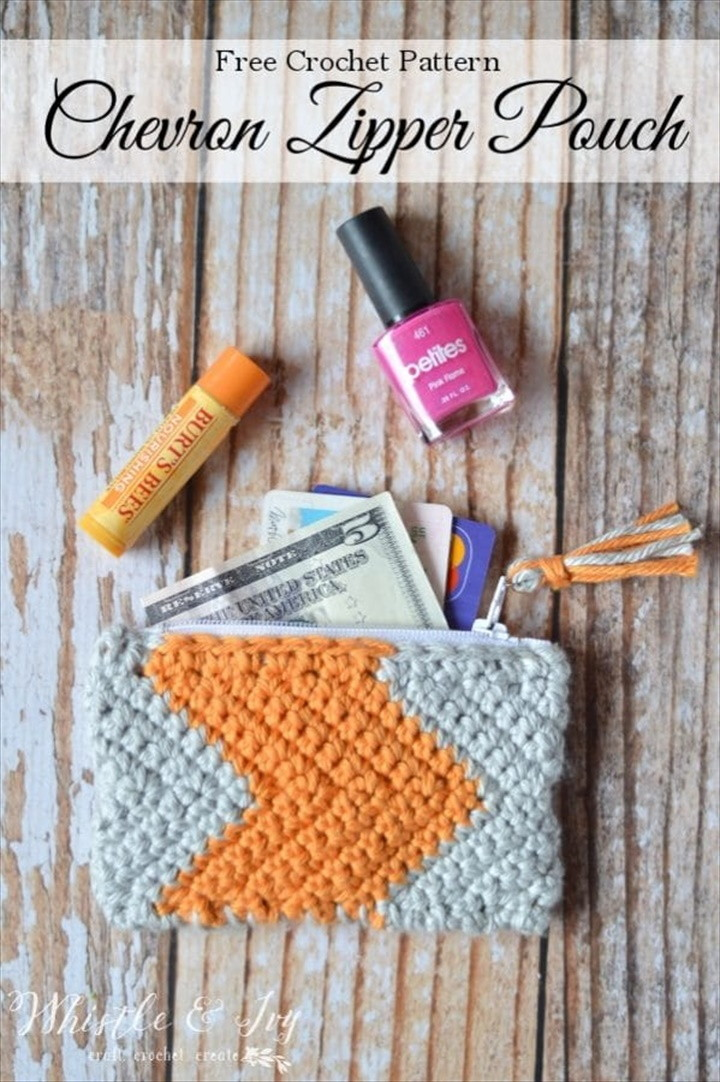 Chevron Zipper Pouch