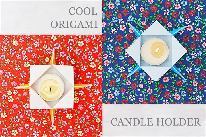 Cool Origami Candle Holder