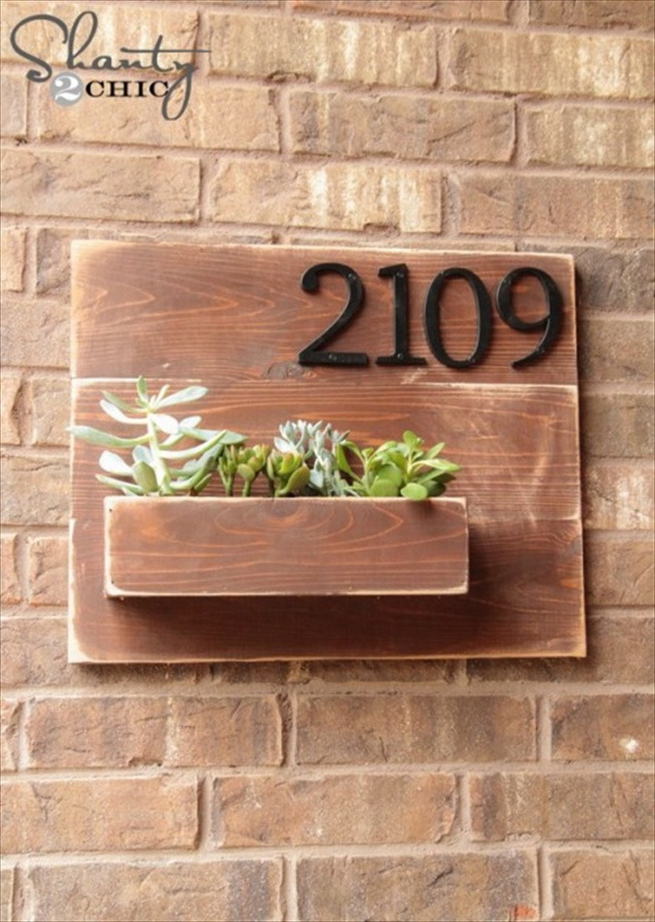 DIY Address Number Wall Planter 1