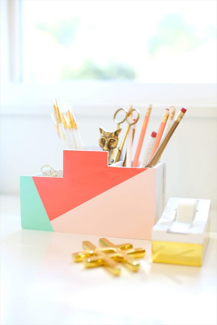 DIY Back To School Desk Organizer