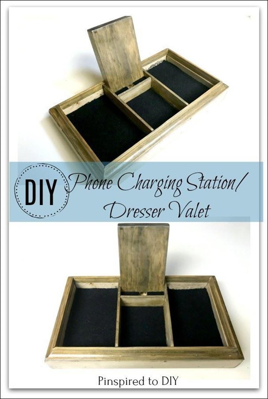 DIY Phone Charging Station Dresser Valet