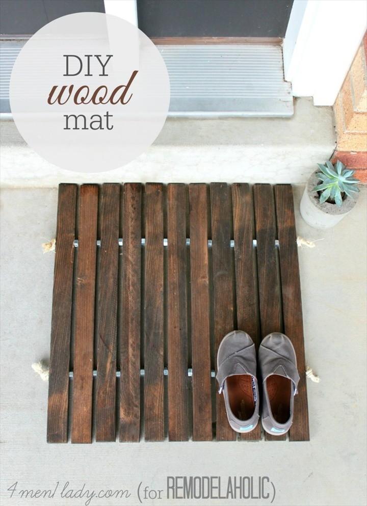 DIY Wood Stake Door Mat 1