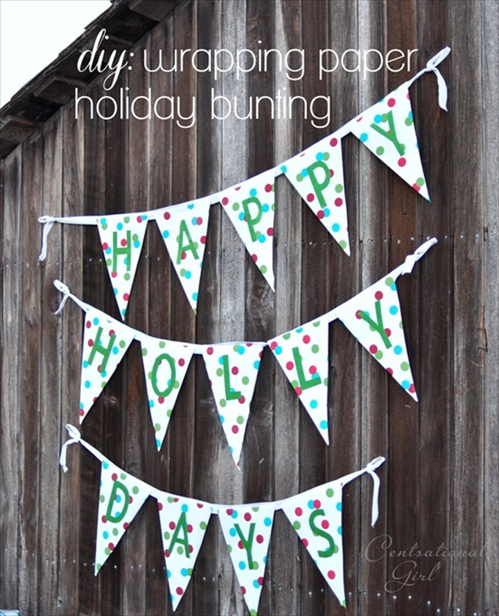 DIY Wrapping Paper Bunting