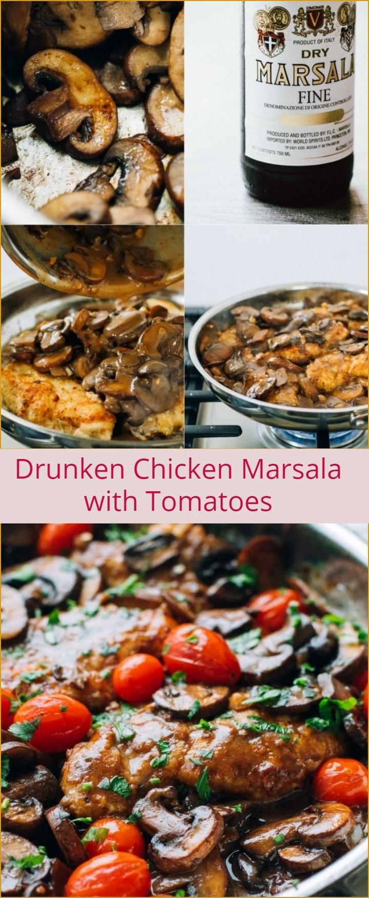 Drunken Chicken Marsala with Tomatoes 1 1