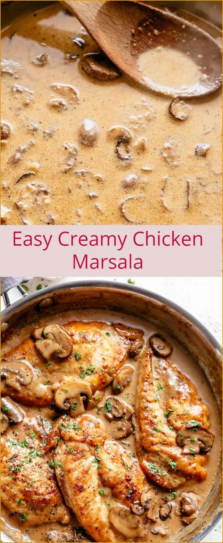 Easy Creamy Chicken Marsala 1 1