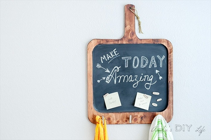 Easy DIY Magnetic Chalkboard for the Kitchen