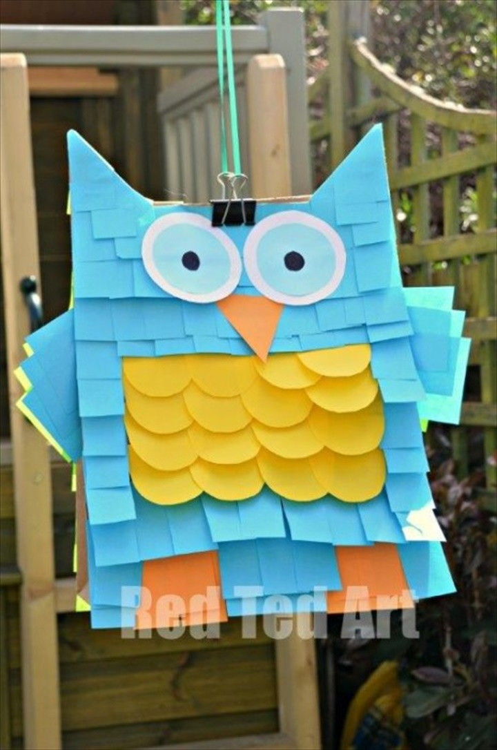 Easy Pinata – Paper Bags And Post its