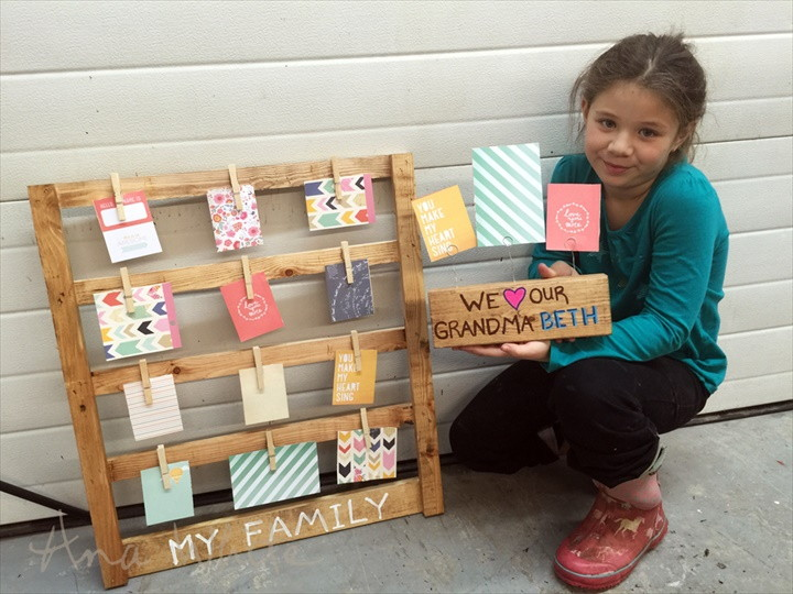 Easy Scrap Wood Photo Display Gifts