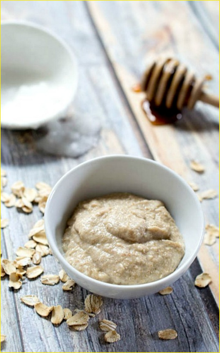 Honey Oatmeal Homemade Face Mask 1