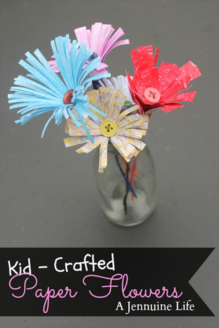 Kid Crafted Paper Flowers
