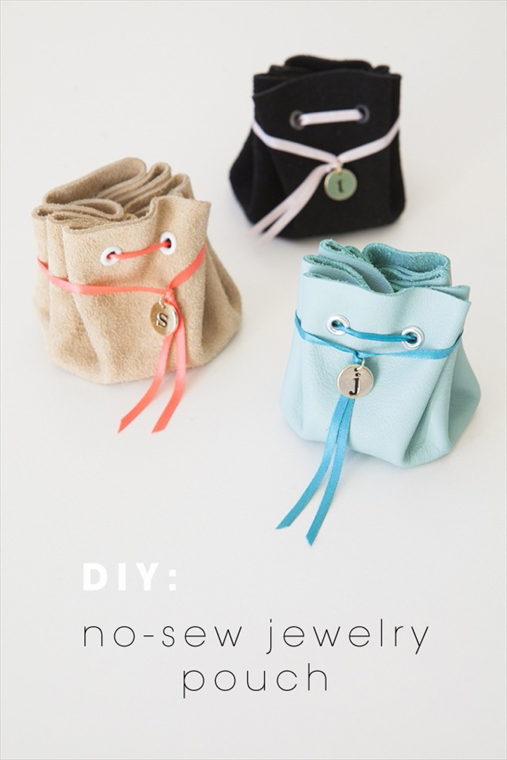 No Sew Leather Jewelry Pouch