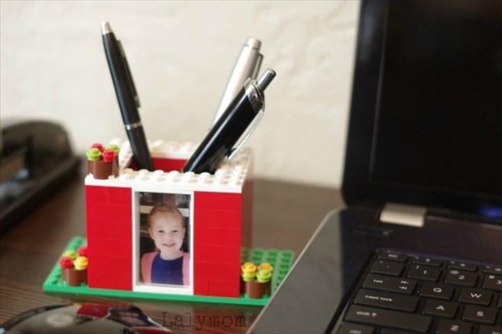 Rad DIY Pen Holder Kids Can Make with LEGO