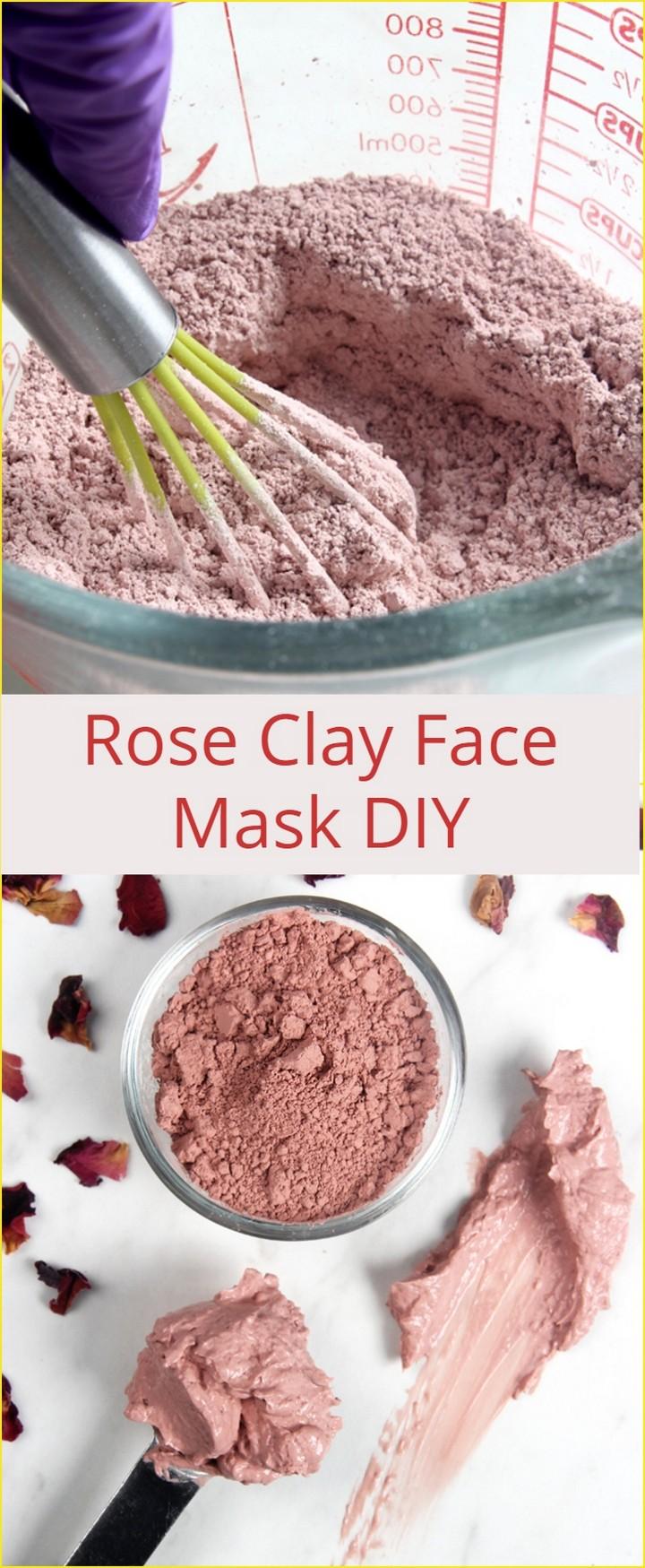 Rose Clay Face Mask DIY 1