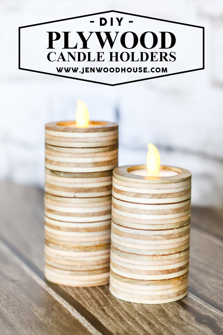 Scrap Plywood Candle Holders