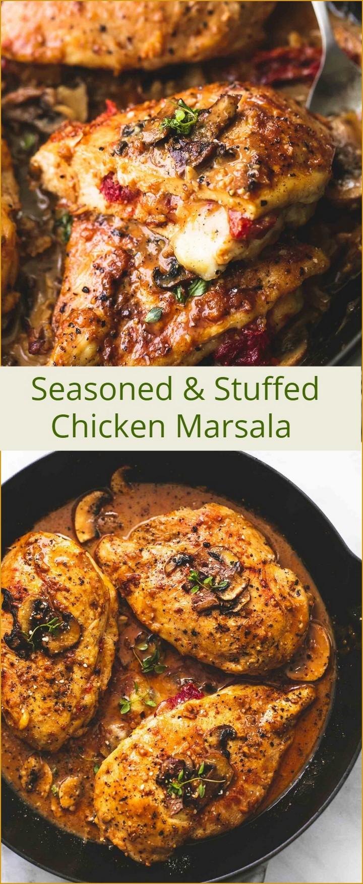 Seasoned and Stuffed Chicken Marsala 1 1