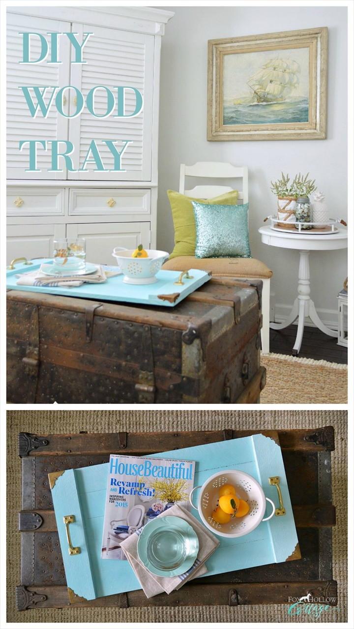 Simple Serving Tray – A Coastal Home Decor DIY