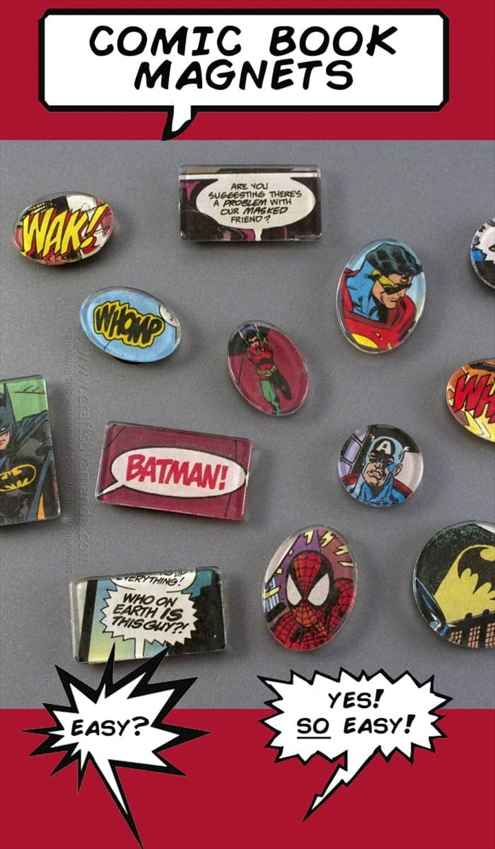 Superhero Comic Book Magnets 1