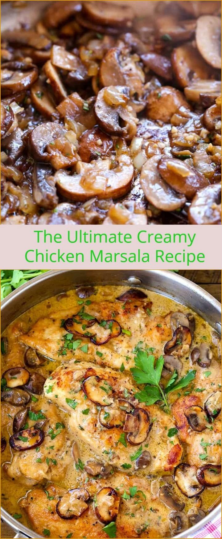 The Ultimate Creamy Chicken Marsala Recipe 1 1