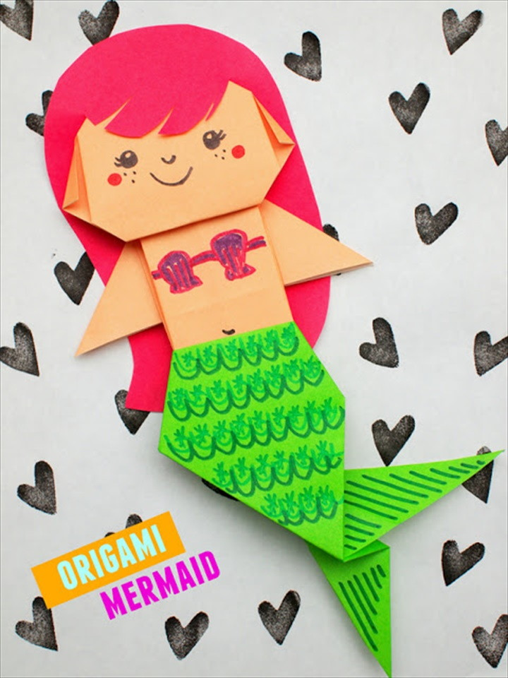 Uber Cute Origami Mermaid